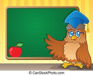 tema, 2, immagine, schoolboard
