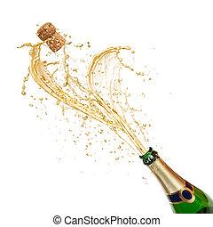 tema, c, celebrazione, gli spruzzi