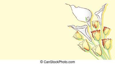 tema, fiori