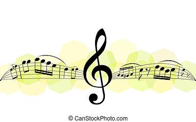 tema, musica, fondo