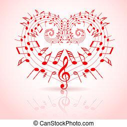 tema, valentines, musica, giorno