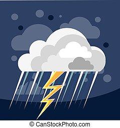 tempesta, icona, severo, tempo