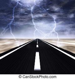 tempesta, strada