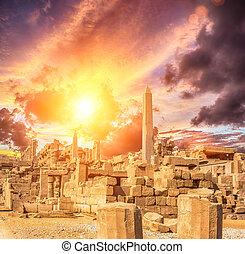 tempio, lussare, karnak, antico