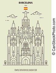 tempio, sagrat, spain., expiatori, canc, barcellona, rfa, punto di riferimento, icona