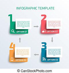 template., affari, infographics