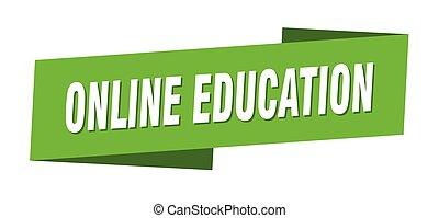 template., etichetta, linea, bandiera nastro, educazione, segno