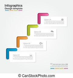 template., illustration., vettore, infographic, relazione