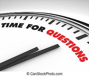 tempo, -, domande, orologio