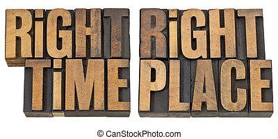 tempo, legno, posto, destra, tipo