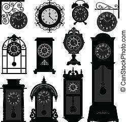 tempo, oggetto antiquariato vecchio, orologio, vendemmia