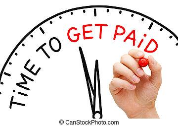 tempo, ottenere, pagato