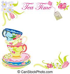 tempo tè, festa, invito
