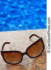 tempo, testo, blu, tuo, estate, posto, vacation(concept, water)