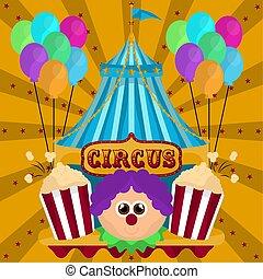 tenda, avatar, pagliaccio circo
