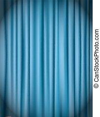 tenda blu, vettore, fondo, illustrazione