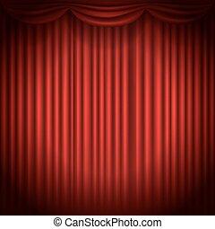 tenda, luce, macchia, illustrazione, vettore, palcoscenico