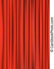 tenda, vettore, fondo, illustrazione, rosso