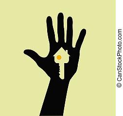 tenendo mano, chiave camera