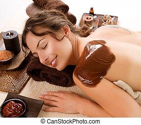 terme, cioccolato, mask., trattamento, lusso