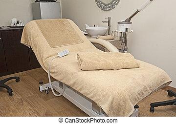 terme, salute, trattamento, letto