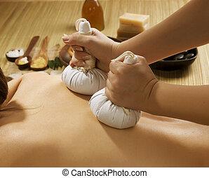 terme, tailandese, massaggio