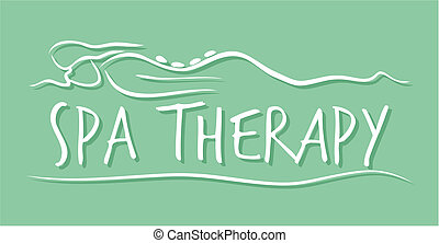 terme, terapia, sagoma