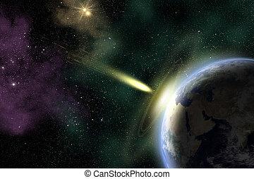 terra, asteroide