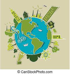 terra, concetto, verde