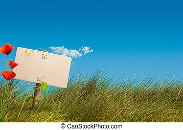 terra, eco, comunicazione, -, segno, verde, selvatico, amichevole