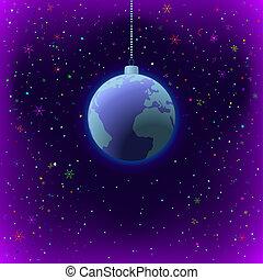 terra, fondo, natale, spazio