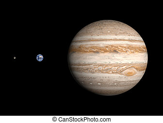 terra, giove, pianeti, luna