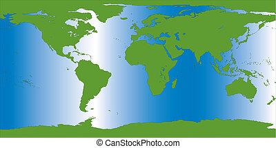 terra, illustrazione, mappa