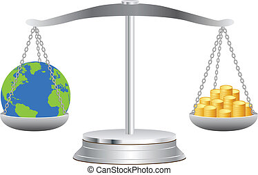 terra, monete, scale