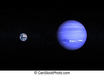 terra, nettuno, pianeti