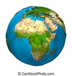 terra pianeta, -, africa