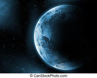 terra pianeta, alba
