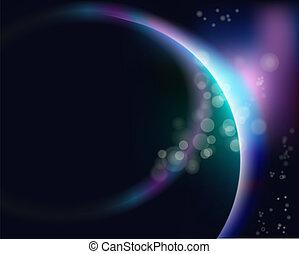terra pianeta, alba, spazio