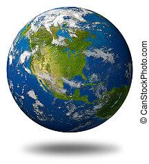 terra pianeta, america, caratterizzare, nord