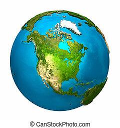 terra pianeta, america, -, nord