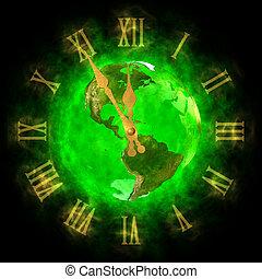 terra pianeta, america, -, verde