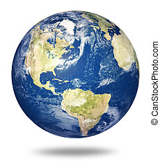 terra pianeta, bianco, america, -