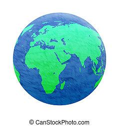terra pianeta, bianco