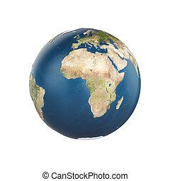 terra pianeta, bianco, isolato, fondo