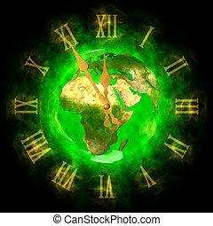 terra pianeta, -, europa, verde