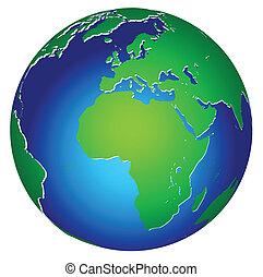 terra pianeta, globale, icona, mondo