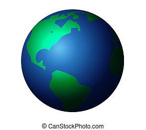terra pianeta, grafico, isolato