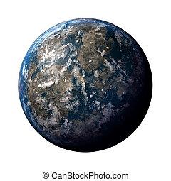 terra pianeta, illustrazione