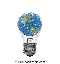 terra pianeta, lightbulb interno