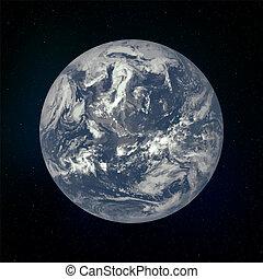 terra pianeta, realistico